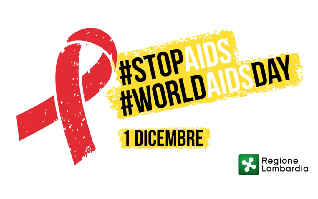 Flashmob in front of the new building of Regione Lombardia to celebrate the World Day against AIDS.